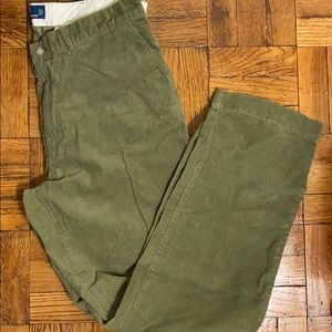 Polo Ralph Lauren green corduroy classic fit pants